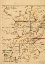 United States, Mid-Atlantic, South, Southeast and Plains Map By Anonymous