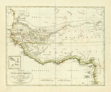 Africa and West Africa Map By Christian Gottlieb Reichard