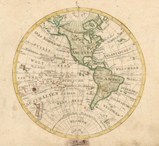 Western Hemisphere, South America and America Map By Johann Walch