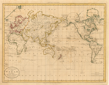World and World Map By D.F. Robinson  &  Charles Dilly
