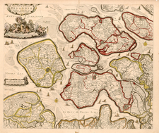 Europe and Netherlands Map By Nicolaes Visscher I