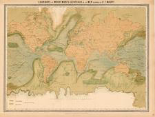 World and World Map By J. Andriveau-Goujon / Matthew Fontaine Maury