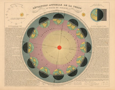 World, Celestial Maps and Curiosities Map By Eugène Andriveau-Goujon
