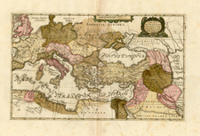 Europe, France, Italy, Spain, Greece and Balearic Islands Map By Anonymous