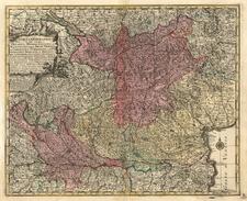 Switzerland and Italy Map By Matthaus Seutter