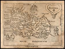Ireland Map By Abraham Ortelius / Pietro Marchetti