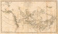World, Polar Maps, Midwest, Alaska and Canada Map By Alexander MacKenzie