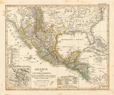 Texas, Plains, Southwest, Rocky Mountains, Mexico and California Map By Adolf Stieler