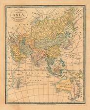 Asia, Asia, Australia & Oceania and Australia Map By William Darton