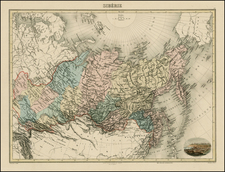 Polar Maps, Alaska, Central Asia & Caucasus and Russia in Asia Map By J. Migeon