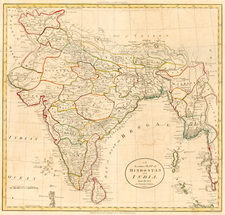 Asia, India and Southeast Asia Map By William Guthrie