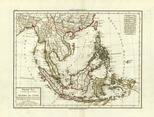 Asia and Southeast Asia Map By Pierre Antoine Tardieu
