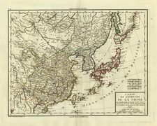 Asia, China, Japan, Korea, India and Central Asia & Caucasus Map By Pierre Antoine Tardieu
