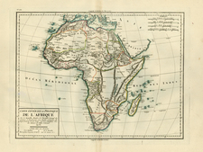Africa and Africa Map By Pierre Antoine Tardieu