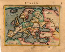 Europe and Europe Map By Abraham Ortelius / Johannes Baptista Vrients