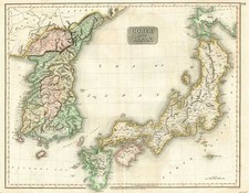 Asia, Japan and Korea Map By John Thomson