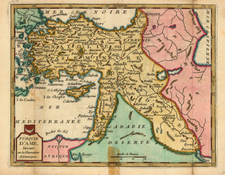 Europe, Hungary, Turkey, Mediterranean, Asia, Turkey & Asia Minor and Balearic Islands Map By Joseph De La Porte