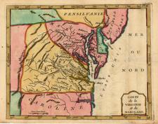 Mid-Atlantic Map By Joseph De La Porte
