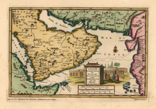 Middle East Map By Pieter van der Aa