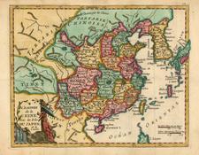 China and Korea Map By Joseph De La Porte