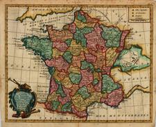 Europe and France Map By Joseph De La Porte