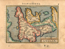 Europe and British Isles Map By Abraham Ortelius / Johannes Baptista Vrients