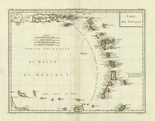 Southeast and Caribbean Map By Pierre Antoine Tardieu