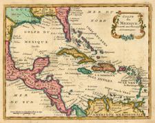 South, Southeast, Mexico, Caribbean and Central America Map By Joseph De La Porte