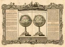World, World and Celestial Maps Map By Louis Brion de la Tour / Louis Charles Desnos