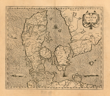 Scandinavia Map By Henricus Hondius / Jan Jansson