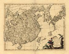 Asia, China, Japan and Korea Map By Antonio Zatta