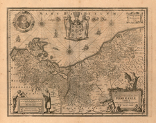 Europe, Europe, Poland, Baltic Countries, Balkans and Germany Map By Henricus Hondius / Jan Jansson