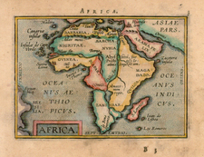 Africa and Africa Map By Abraham Ortelius / Johannes Baptista Vrients