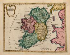 Ireland Map By Joseph De La Porte