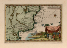 South America and Brazil Map By Pieter van der Aa