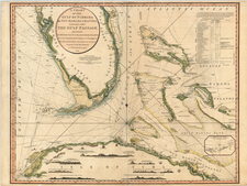 Florida and Caribbean Map By William Faden