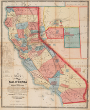 Southwest and California Map By A.J. Doolittle  &  Leander Ransom