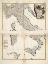 Europe, Europe and Italy Map By Jean-Baptiste Bourguignon d'Anville