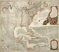 United States, North America, Caribbean and Central America Map By Robert Sayer  &  John Bennett