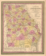 Southeast Map By Thomas, Cowperthwait & Co.