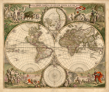 World, World and Polar Maps Map By Frederick De Wit