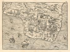 South America Map By Giovanni Battista Ramusio