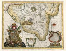 South America Map By Huberto Vincent / Andreas Antonius Horatius / Antonius Donzel