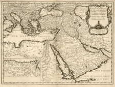 Europe, Turkey, Mediterranean, Asia, Middle East and Turkey & Asia Minor Map By Nicolas Sanson