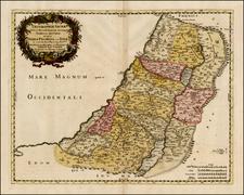 Holy Land Map By Tipografia del Seminario