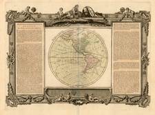 Western Hemisphere, South America and America Map By Louis Brion de la Tour / Louis Charles Desnos