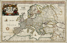 Europe and Europe Map By Willem Janszoon Blaeu / Giacomo Giovanni Rossi