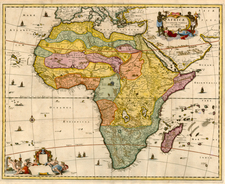 Africa and Africa Map By John Ogilby