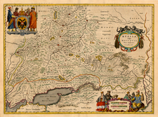 Europe, Russia and Ukraine Map By Johannes Blaeu