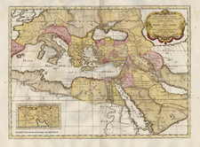 Europe, Europe, Mediterranean, Balearic Islands, Asia, Middle East, Turkey & Asia Minor and Africa Map By Tipografia del Seminario